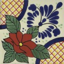 Mexican Talavera Tiles Flowers 23