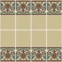 Ceramic High Relief Border Tile Santa Paola