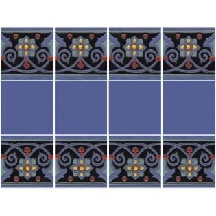 Ceramic High Relief Border Tile Navarres Negro