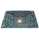 Mexican Talavera Vessel Rectangular Sink VSR10