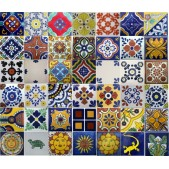 Mexican Talavera Tiles Mixed Selection - SALE