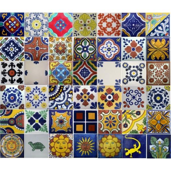 Mexican Talavera Tiles Mixed Selection SALE - Cheap mexican tile sale