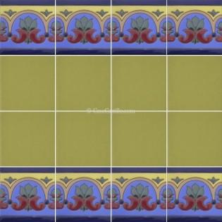 Ceramic High Relief Border Tile Aviño