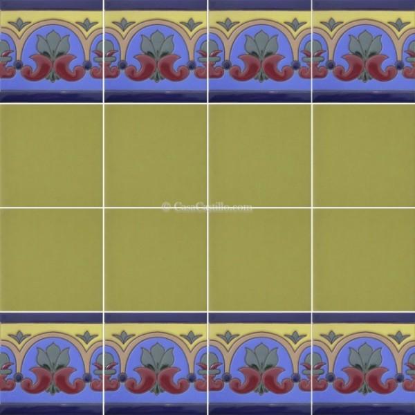 Mexican Border Tiles High Relief Ceramic Avi O