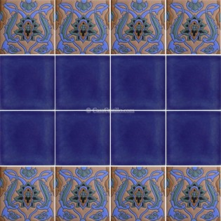Ceramic High Relief Border Tile Viveiro