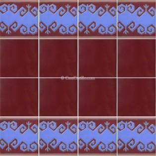 Ceramic High Relief Border Tile Cedeira