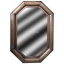 Big Octagonal Mexican Tin Mirror Glory
