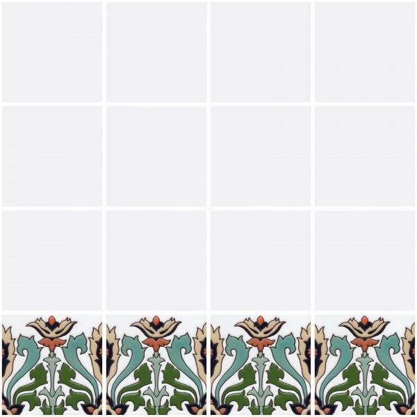 Mexican Border Tiles High Relief Ceramic Monteros