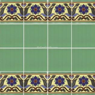 Ceramic High Relief Border Tile Flor A