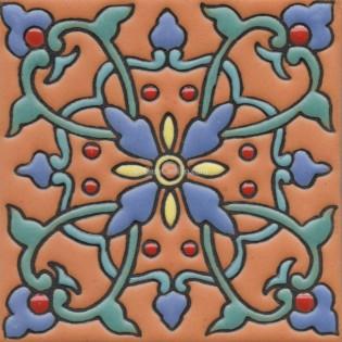 """SALE 6x6"""" Ceramic High Relief Tile CS168"""