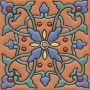 "SALE 6x6"" Ceramic High Relief Tile CS168"