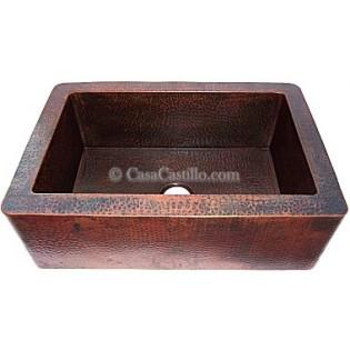 Copper Apron Sink 1 Bowl