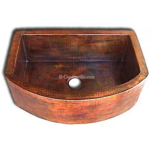 Copper Apron Sink 1 Bowl Half Moon