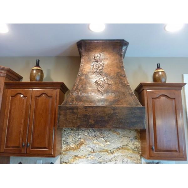 Copper Kitchen Hood Vines