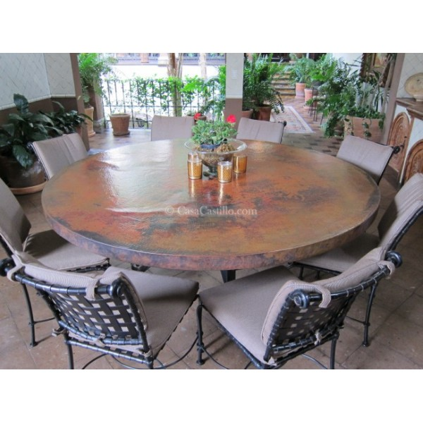 Hammered Copper Table Top Round   SELECT YOUR SIZE