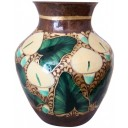 Hand Painted Copper Vase Lillies
