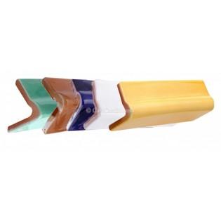 Ceramic High Relief Angle V Cap Rail