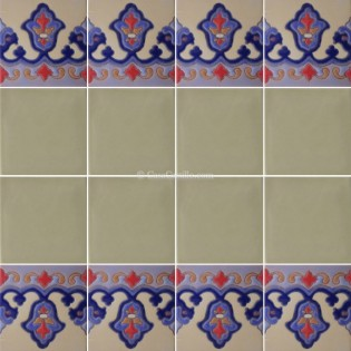 Ceramic High Relief Border Tile Sevilla
