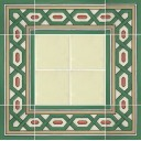 Ceramic High Relief Border Tile San Marcos