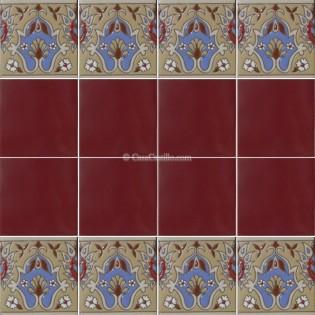 Ceramic High Relief Border Tile Cenefa Tapete