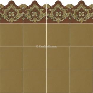 Ceramic High Relief Border Tile Plaquet