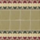 Ceramic High Relief Border Tile Villajoyosa