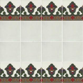 Ceramic High Relief Border Tile Gillon
