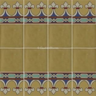 Ceramic High Relief Border Tile Elche