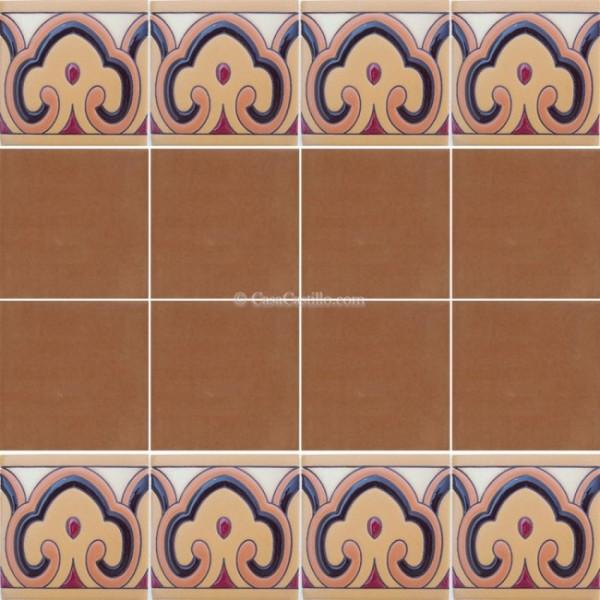 Mexican Border Tiles High Relief Ceramic Lanzarote