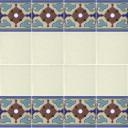 Ceramic High Relief Border Tile Pastrana