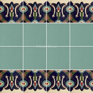 Ceramic High Relief Border Tile Serradilla