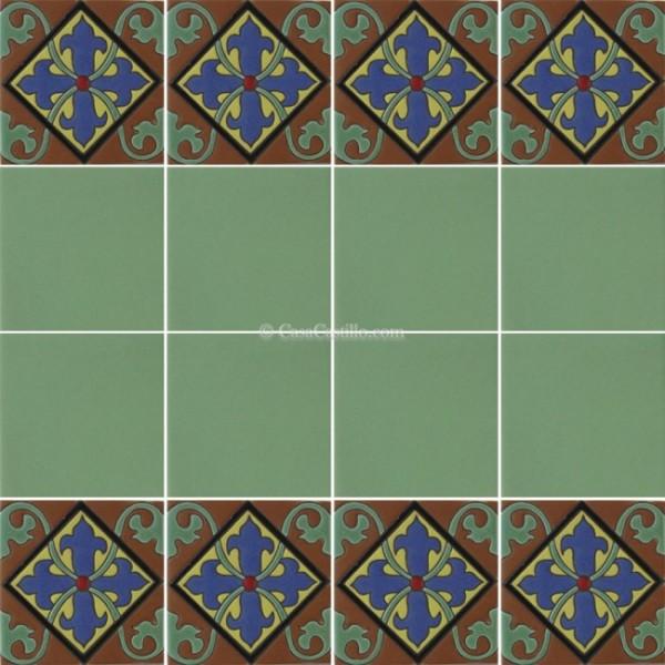 Mexican Border Tiles High Relief Ceramic Chamartin