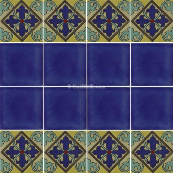 Mexican Border Tiles High Relief Ceramic Avila