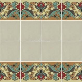 Ceramic High Relief Border Tile Olmedo Left