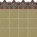 Ceramic High Relief Border Tile Plaquet Fondo Ciruelo