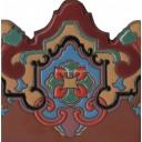 Ceramic High Relief Border Tile Plaquet Antonio