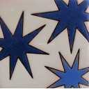 Ceramic High Relief Tile Blue Stars