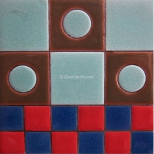 Ceramic High Relief Tile Domino