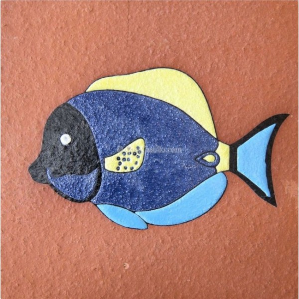 Ceramic High Relief Non Slip Tile Fish 3