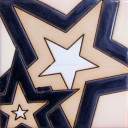 Ceramic High Relief Tile Stars