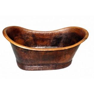 Copper Bathtub Grand Slipper No Rings