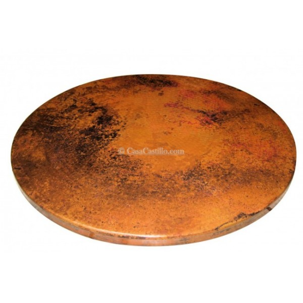 Hammered copper table top round for Table y copper