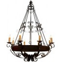 Iron Chandelier Aurora