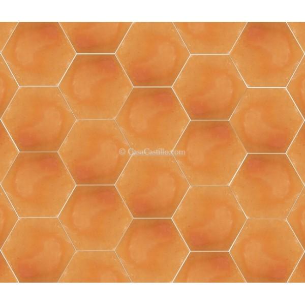 saltillo tiles hexagonal unsealed