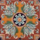Mexican Talavera Tile Flor Romanesco 3