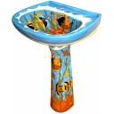 Mexican Talavera Pedestal Sink Oceano
