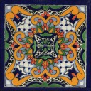 Mexican Talavera Tile Julian