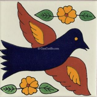 Mexican Talavera Tiles Bird 6