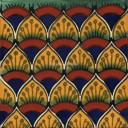 Mexican Talavera Tiles Cola de Pavo