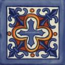 Mexican Talavera Tile Cruz Azul